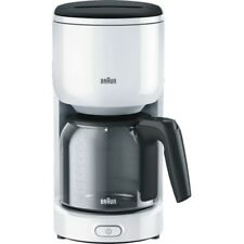 Braun Domestic Home KF 3120 WH PurEase Weiss Filter-Kaffeemaschine Glaskanne