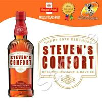 PERSONALISED SOUTHERN WHISKEY LIQUER BOTTLE LABEL BIRTHDAY ANY OCCASION GIFT