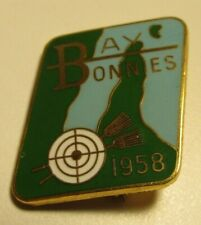 Bay Bonnies 1958 Antique Womens Ladies Curling Club Pin