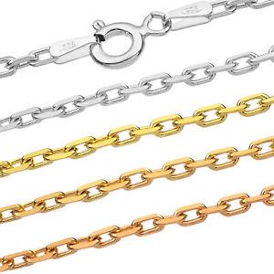 Ankerkette Silberkette - SS 925 - 1.0-2.0 mm + 40,45,50,55,60,65,70,75 cm