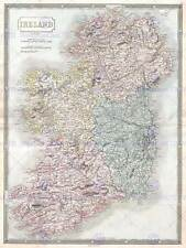 1850 Hall Mappa Irlanda Vintage Poster Art Print 12x16 pollici 30x40cm 2892py