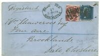 # 1879 MANCHESTER COVER REGISTERED TO SALE 1½d PL 3 & 2d BLUE TO Wm SHAWCROSS