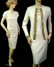 NWT ST JOHN COUTURE MILANO KNIT DRESS SUIT SZ 6 EXTRAVAGANT TRIM  sale