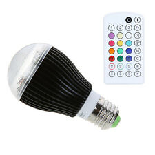 E27 9W LED Light Color Changing Voice Music Control Bulb with IR Remote RGB US