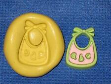 Baby Bib Silicone Push Mold #991 For Fondant Craft Chocolate Baby Shower Resin