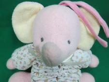 PRESTIGE TOY CORP PINK CREAM MUSICAL ELEPHANTS POLL ACCORDION PLUSH BABY CRIB
