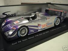 AUDI R8 2nd LE MANS 2004 #88 VELOQX 1/18 SPARK S1806 voiture miniature collectio