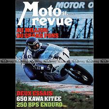 MOTO REVUE N°2311 KAWASAKI Z 650 BPS 250 ROKON YAMAHA 400 XS MV AGUSTA PONS 1977