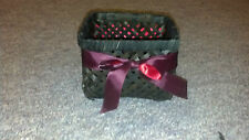 Espresso Colored Ribboned Wicker Basket Great for Easter
