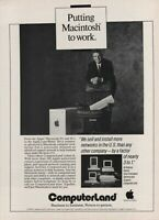 1989 Computerland Apple Macintosh IIx IIcx IINTX Printers Vintage Photo Print Ad