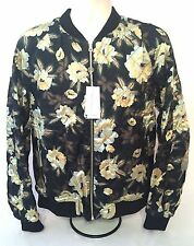 NWT $1.4K Dries Van Noten RUNWAY Black Quilted Reversible Floral Bomber Jacket