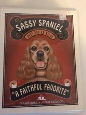 Sassy Spaniel - Retro Pets 8x10 Art Print - Krista Brooks Works of Arf