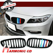 For 2009-2014 BMW E89 Z4 Convertible Jet Black Front Grille Grill Tri Color