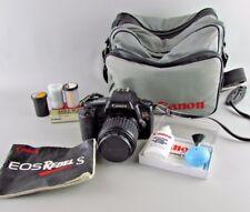 CANON EOS Rebel S Camera Bundle 35mm 35-80mm Bag manual FILTER CAPS NEW BATTERY
