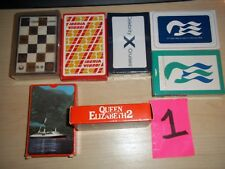 7 DECKS OLD PLAYING CARDS AIRLINES CRUISE SHIPS JAPAN AIR QEII IBERIA PRINCESS +