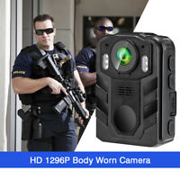Body Worn Camera 1296P HD for Police Security Guards Night Vision Portable Vide
