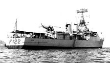 ROYAL NAVY TRIBAL CLASS FRIGATE HMS GURKHA AT MUSCAT TRUCIAL OMAN STATES IN 1966