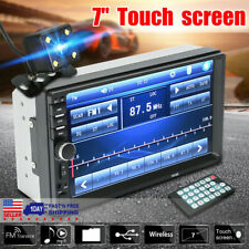 "🔥Car Stereo Radio 1080P Wireless 7"" MP5 Player Touch Screen FM 2 DIN w/ Camera"