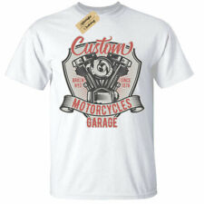 Custom Motorcycles Garage T-Shirt Mens biker top clothing tee