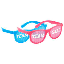 BABY SHOWER GENDER REVEAL Boy or Girl GLASSES (10) ~ Party Supplies Pink Blue