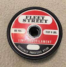 Vintage Fleet Street Limp Monofilament Fishing Line 6 lb 100 yds