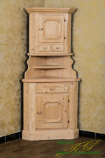 Voglauer Anno 1900 Corner Natural Cottage Cabinet Dresser Solid Wood