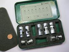 "1 - Set (7) Stahlwille Auto Flex 3/8"" Drive Sockets & Box. Metric Aero Tools New"