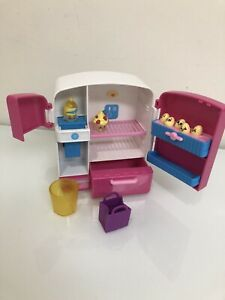 Shopkins So Cool Fridge Playset With 2 Exclusive Figures & 5 Mini Eggs HTF / EUC