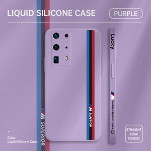 New Soft Liquid Silicone Shockproof Back Case Phone Cover For Huawei M/P