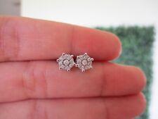 .14 CTW Diamond Earrings 14k  White Gold E190 sep