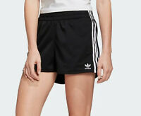 WOMENS ADIDAS ORIGINALS BLACK SHORTS 3 STRIPES TREFOIL UK 10, 12 LAST FEW