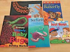 New Lot 5: Bugs / Turtles / Sharks / Butterfly: Baby Bugs, Sea Turtles, Aardvark