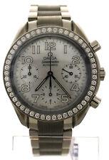 Omega Speedmaster Reduced Watch MOP Dial Diamond Bezel 3535.70.00 Chronograph 38