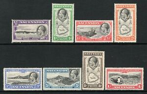 Ascension KGV 1934 Set to 1s. SG21-28 LM/Mint-M/Mint