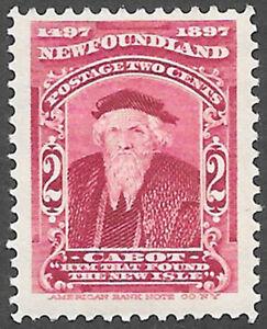 Newfoundland Scott Number 62 SG 67 FVF H Cat $2.50