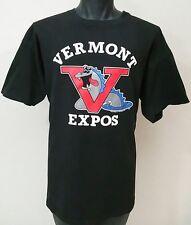 Vtg 90s VERMONT EXPOS T Shirt XL Montreal Minor League Baseball Lake Monster