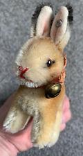 Vintage Steiff Miniature Mohair Manni Bunny Rabbit Excellent Silver Ear Button !