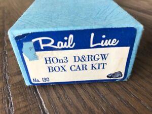 Rail Line HOn3 Kit #130 Denver & Rio Grande Western 3000 Series Box Car NOS Kit!