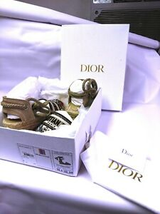 CHRISTIAN DIOR Multicolor Mille Fleurs Embroidered 39.5 US 9 WEDGE SHOES