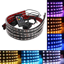 "8 Color LED Under Car Glow Underbody System Neon Lights Kit 48"" x 2 & 36"" x 2 A1"
