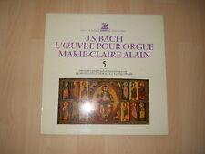"""LP / J. S. BACH """"L'OEUVRE POUR ORGUE"""" MARIE-CLAIRE ALAIN DISQUE ERATO"""