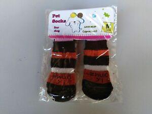 Calzini per cane antiscivolo 4 pz varie misure e colori
