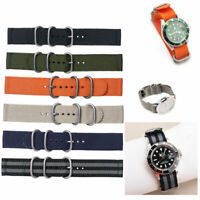 Ballistic Durable 2-Joint Nylon Wristband Watch Band Strap Replacement 18-24mm