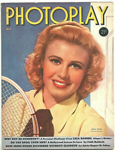 PHOTOPLAY • May 1939 • Ginger Rogers • Hole in back 1/2 top margin • Oversized