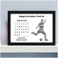 Personalised Football Birthday Gifts for Him Male Boys Men Dad Footballer Gifts
