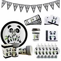 Children Panda Birthday Party Decorations Bundle Party Tableware Set Pack