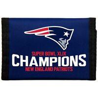 NFL New England Patriots Super Bowl Champions XLIX 49 Nylon Wallet Brand New