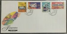 Singapore 1997 FDC cover Transport Stamps HV set Train, Buses, Taxi by SLANIA