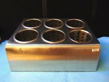 6 Hole Stainless Steel Flatware Holder W/ 6 Cylinders Good Cosmetic Shape Rh486