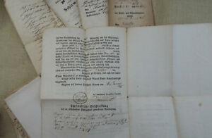 Murau - Steiermark - 6 Schirm-Briefe + Quittungen Verzeichnisse ca. 1830 - 1868